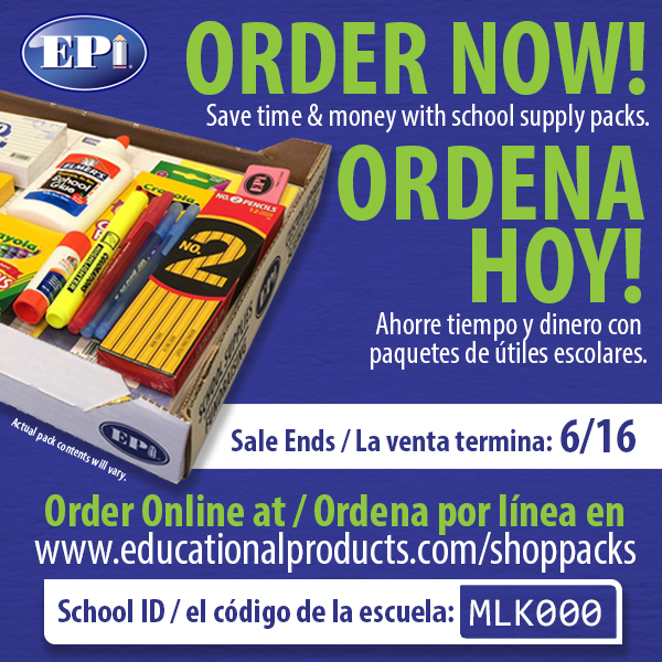 School Supply Kits Grades 2-8 on Sale Now