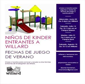 playdate reminder- spanish
