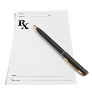 picture of prescription notepad