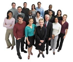 picture of a diverse group of staff members