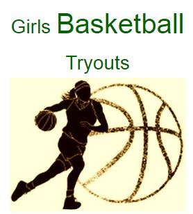 Girls Basketball Tryouts:  Tuesday, November 5th- 7th and 8th grade, Thursday, November 7th- 6th grade.  Wear gym shoes, t-shirt, and shorts.  If you're interested please sign up in the cafeteria during lunch periods.  Questions, ask Coach Perrin.
