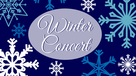 Chute Winter Concert: Wednesday, 12/11 Choir, Concert Band and Concert Orchestra.  Thursday, 12/12 Honor's Band, Honor's Orchestra, Jazz Band.  Friday, 12/13 All groups perform during school