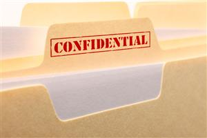 picture of confidential file folder