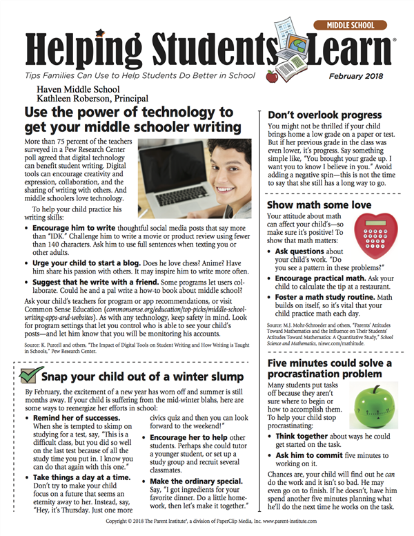 Helping Students Learn Newsletter
